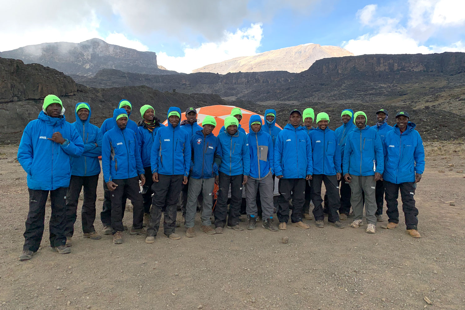 Crew At Moir Camp Kilimanjaro