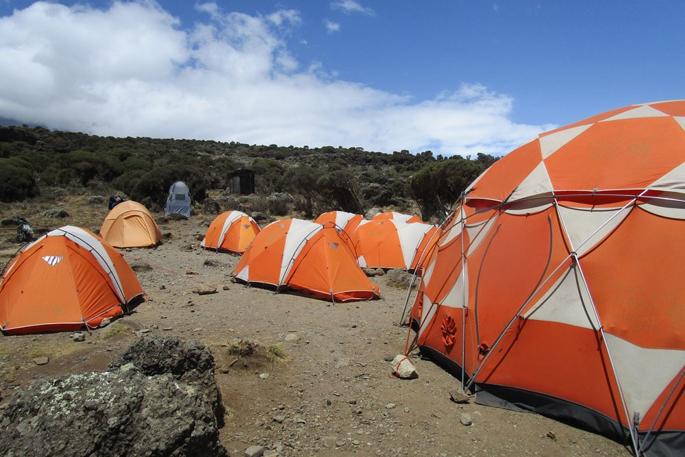 Barking Zebra has the best equipment at their Kilimanjaro camps